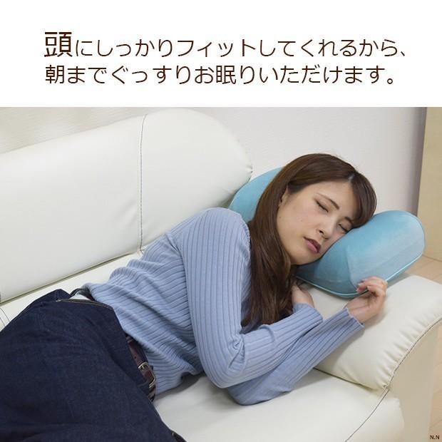 ごろ寝クッション レインボー やわらかもっちりごろ寝クッション 6色 腰当て マイクロベロア生地 低反発 モールド加工 リビング ダイニング 寝室 ソファ まくら poruchan0820 03