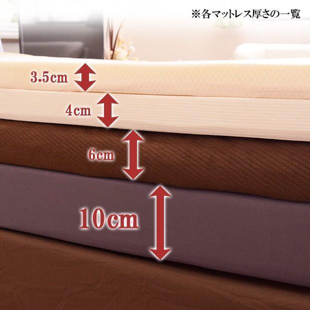 3つ折り 高反発マットレス 10cm シングルサイズ 復元率98% ピーチスキン加工 収納に便利 ファスナー付き 洗えるカバー付き|poruchan0820|13