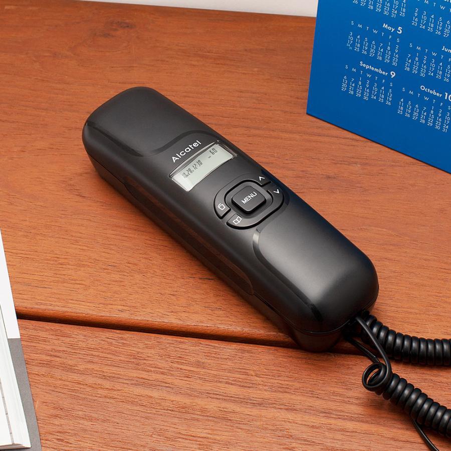 電話機 おしゃれ 壁掛け 固定電話機 電源不要 シンプル ナンバーディスプレイ対応 アルカテルT16|post-sign-leon|10
