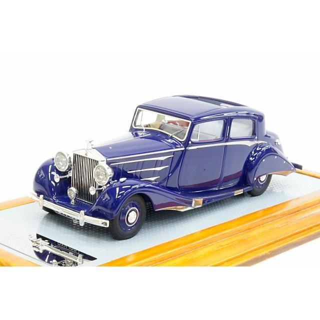 イラリオ 1/43 ロールス·ロイス ファントム III 3BT85 リムジン セダンカ·ドゥ·ヴィル フーパー 1937 ダークブルー 完成品ミニカー IL43051