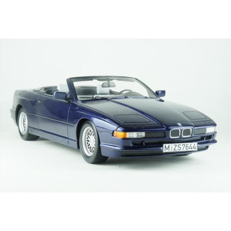 シュコー 1/18 BMW 850i カブリオレ ブルー 完成品ミニカー 450006900