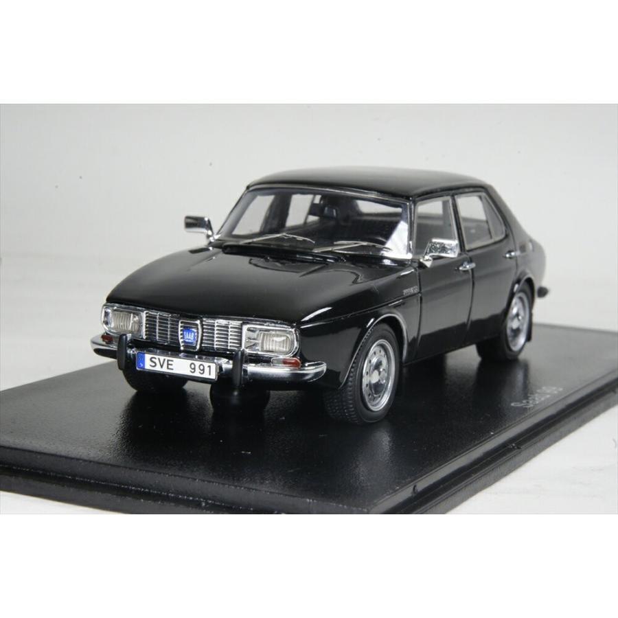 ネオ 1/43 サーブ 99 4ドア 1971 ブラック 完成品ミニカー NEO43679