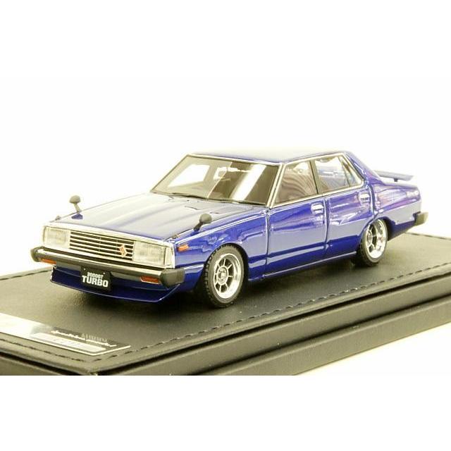 イグニッションモデル 1/43 ニッサン スカイライン 2000 GT-EL C211 ブルー 完成品ミニカー IG0327