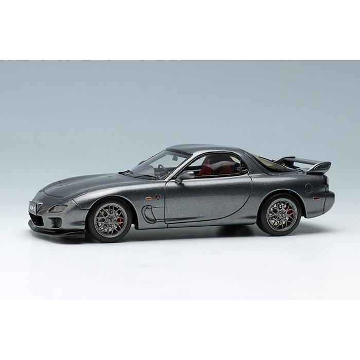 ヴィジョン 1/43 マツダ RX-7 FD3S スピリットR タイプ A 2002 チタニウムグレーメタリック 完成品ミニカー VM100A