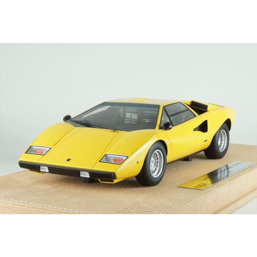 イデア 1/18 ランボルギーニ カウンタック LP400 1974 イエロー 完成品ミニカー IM026B