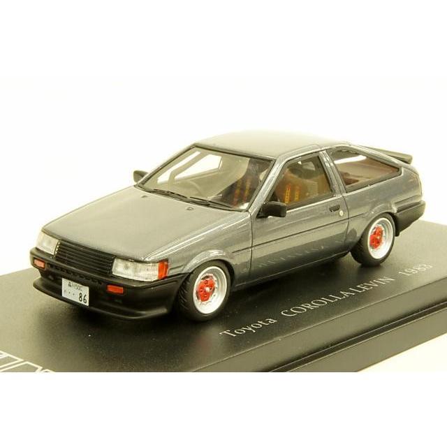カム 1/43 トヨタ カローラ レビン AE86 1983 スポーツカスタム仕様 デルタスポークホイール装着 ガンメタリック 完成品ミニカー C43039
