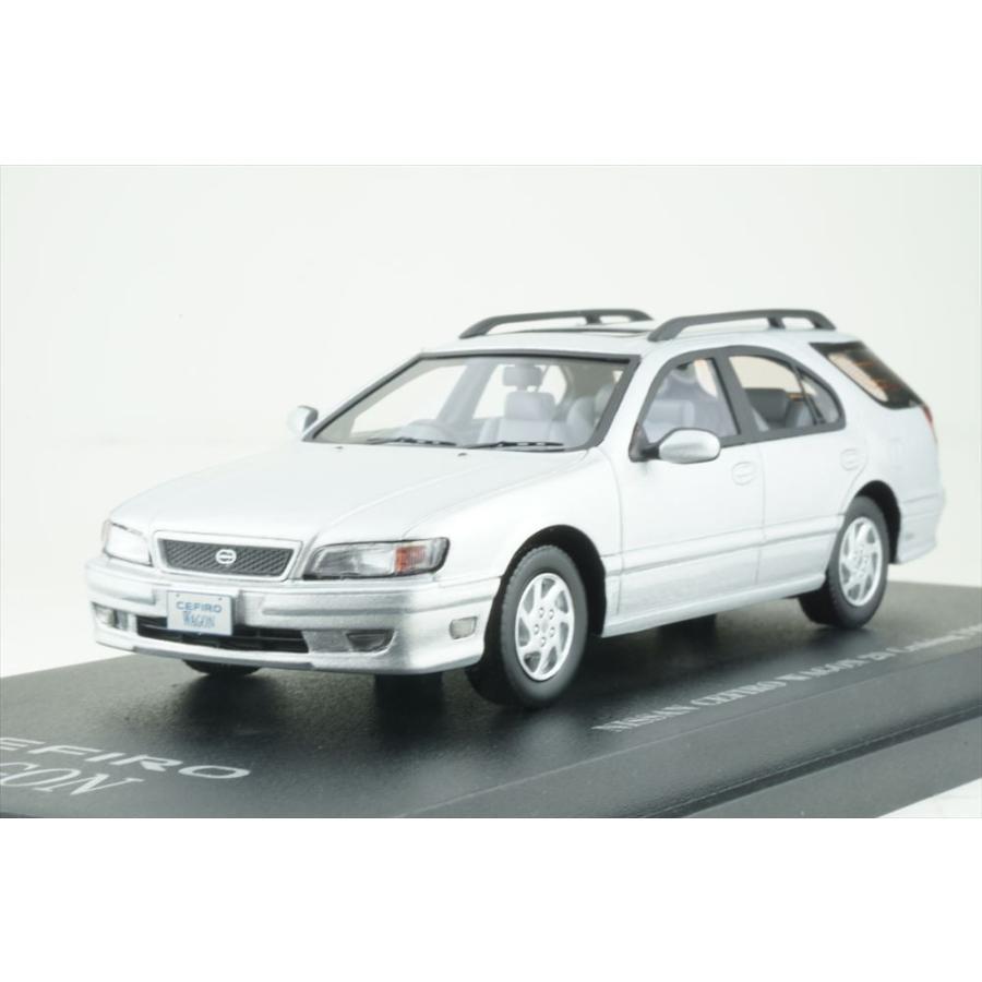 カム 1/43 日産 セフィーロ ワゴン WA32 1997 プラチナシルバー 完成品ミニカー C43078