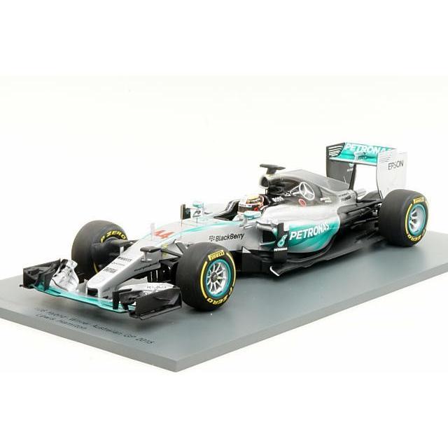 スパーク 1/18 メルセデス AMG ペトロナス W06 ハイブリッド No.44 2015 F1 オーストラリアGP ウイナー L.ハミルトン 完成品ミニカー 18S173