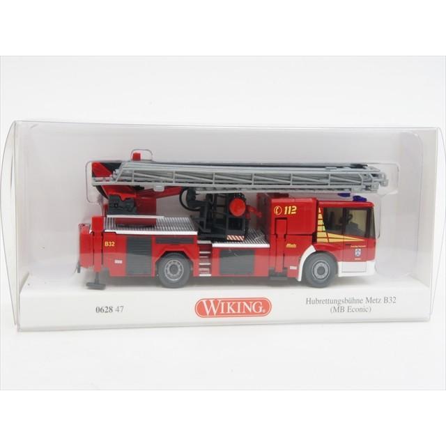 ミニカー ヴィーキング 62847 1/87 メルセデス・ベンツ エコニック 回転はしご付消防車