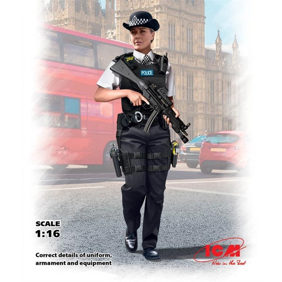 ICM 1/16 イギリス女性警察官 スケールプラモデル 16009 ...