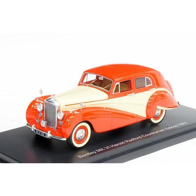 ミニカー ボスモデルズ Bos Models (BOS43485) 1/43 ベントレー Mk.6 ハロルド・ラドフォード カントリーマン サルーン 1951年 RHD レッド/ライトベージュ