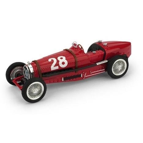 ブルム 1/43 ブガッティ タイプ 59 No.28 1934 モナコGP T.ヌヴォラーリ 完成品ミニカー R174