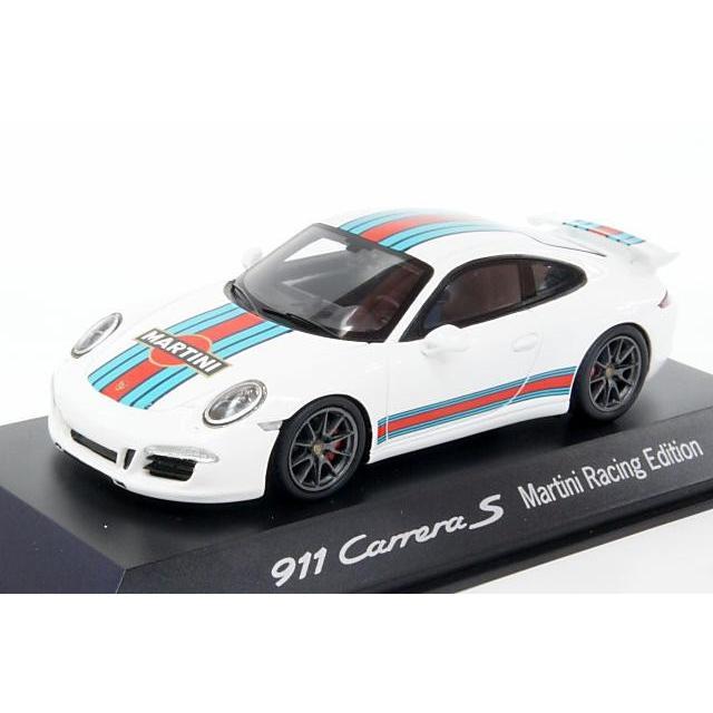 ミニカー ポルシェ特注/スパーク (WAP0202300G) 1/43 ポルシェ 911(991) カレラ S マルティニ・レーシング・エディション ホワイト