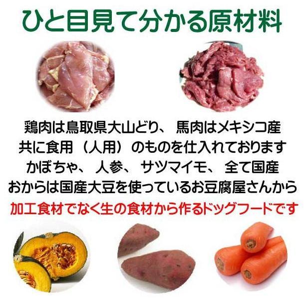 国産 無添加 自然食 健康 こだわり食材  【 お米のドッグフード 】 鶏肉・馬肉 800g 4個セット (3.2kg)  ドックフード (犬用全年齢対応) potitamaya-y 11