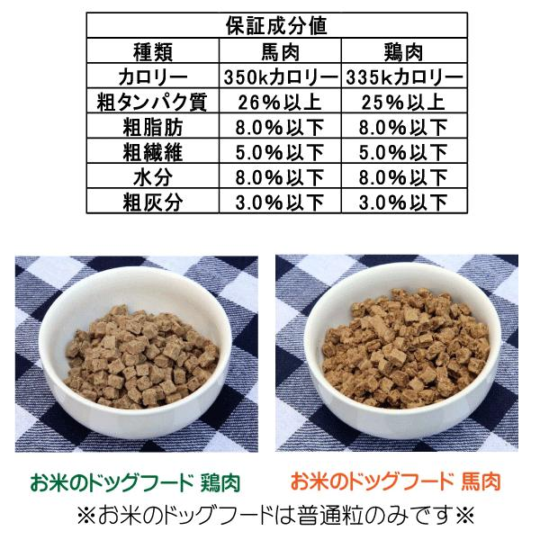 国産 無添加 自然食 健康 こだわり食材  【 お米のドッグフード 】 馬肉タイプ 800g ドックフード (犬用全年齢対応) potitamaya-y 16