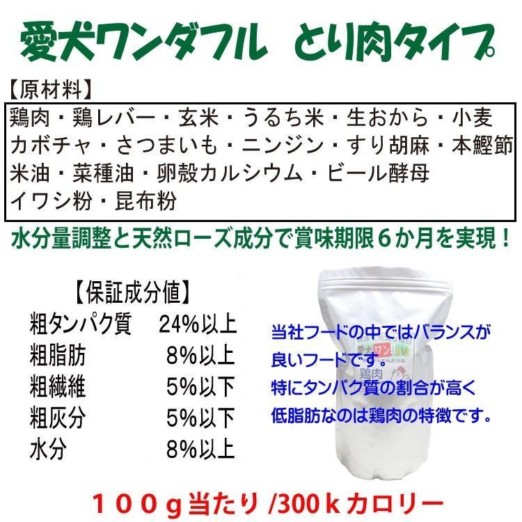 国産 無添加 自然食 健康 こだわり食材  【 愛犬ワンダフル 】 鶏肉タイプ 4.9kg 2個 (9.8kg)セット  (小粒・普通粒) 犬用全年齢対応 potitamaya-y 04