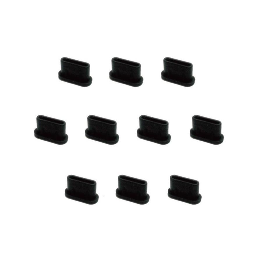 monofive USB3.1 Type-Cポート防塵保護カバー・キャップ(10個入り) シリコンタイプ MF-TYPEC-C10B|poupelle-mart