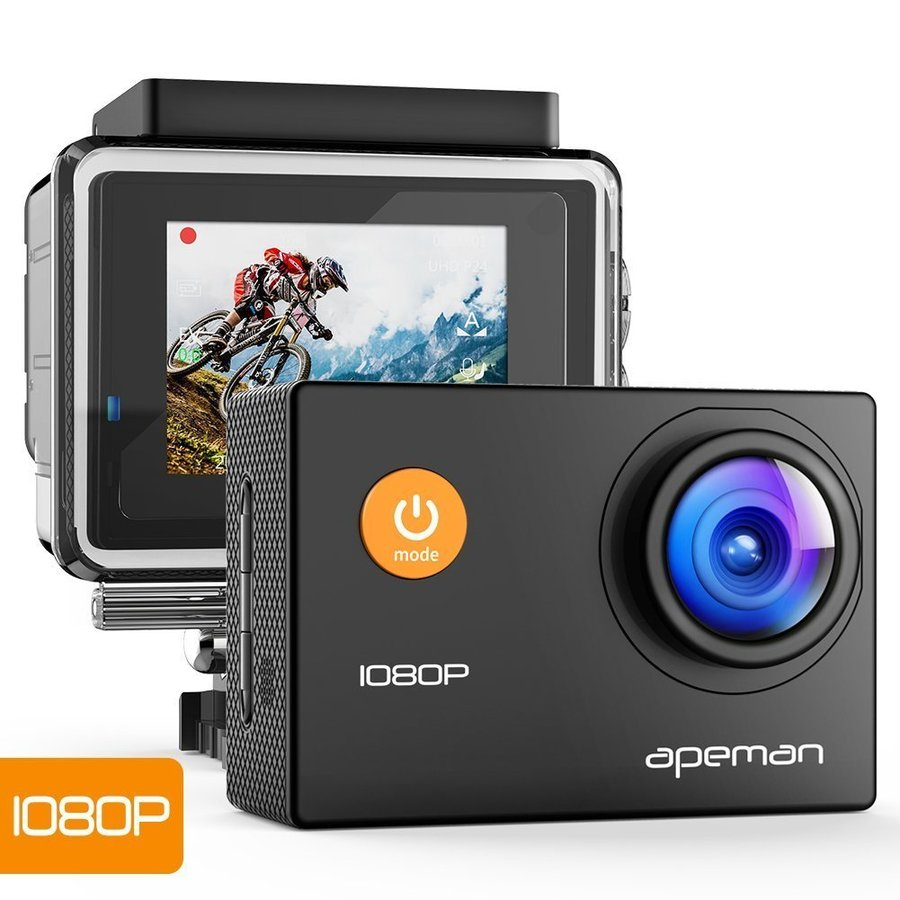【進化版】 APEMAN A66S アクションカメラ 1080P高画質 1400万画素 HDMI出力 スポーツカメラ 2インチ液晶画面 40M 防水カメラ 170度広角レンズ アクセサリー pour-moi