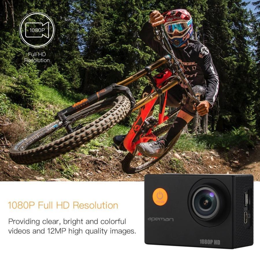 【進化版】 APEMAN A66S アクションカメラ 1080P高画質 1400万画素 HDMI出力 スポーツカメラ 2インチ液晶画面 40M 防水カメラ 170度広角レンズ アクセサリー pour-moi 02