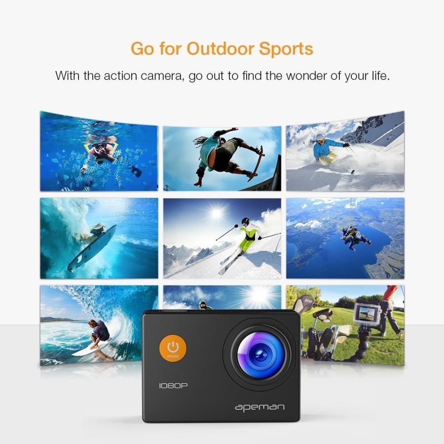 【進化版】 APEMAN A66S アクションカメラ 1080P高画質 1400万画素 HDMI出力 スポーツカメラ 2インチ液晶画面 40M 防水カメラ 170度広角レンズ アクセサリー pour-moi 06