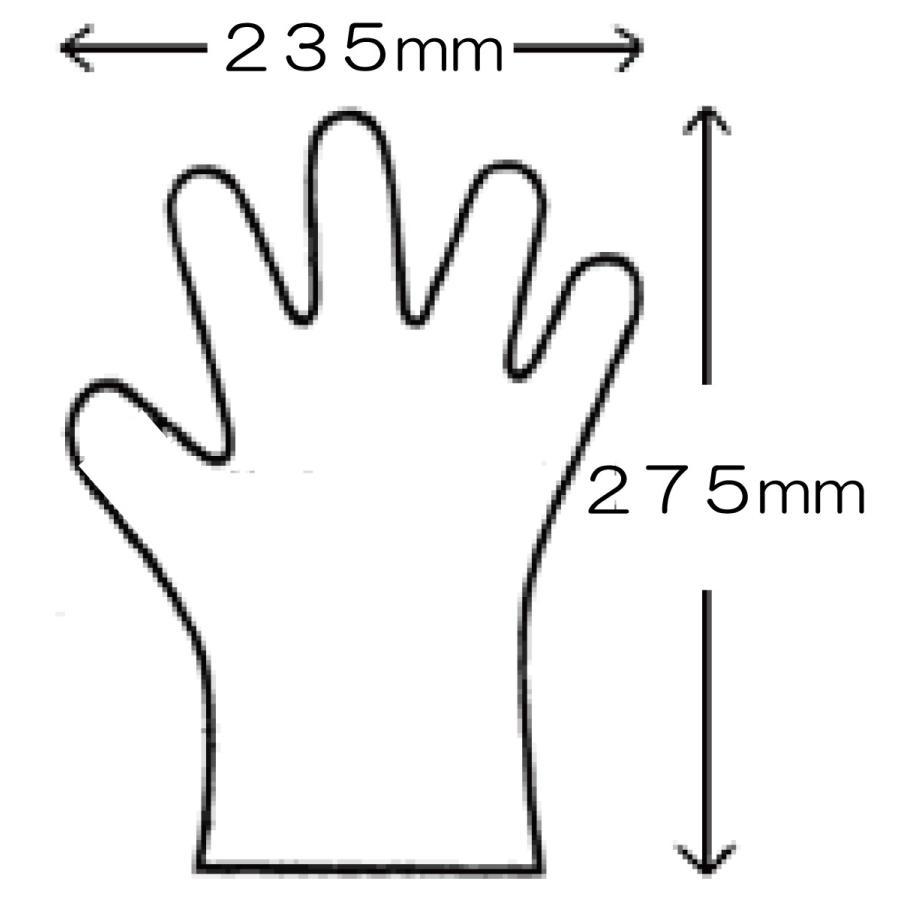 ズレ落ちない手袋 左右兼用 使い捨て ポリエチレン製手袋 大人用( 50枚入 )|pourvous2|04