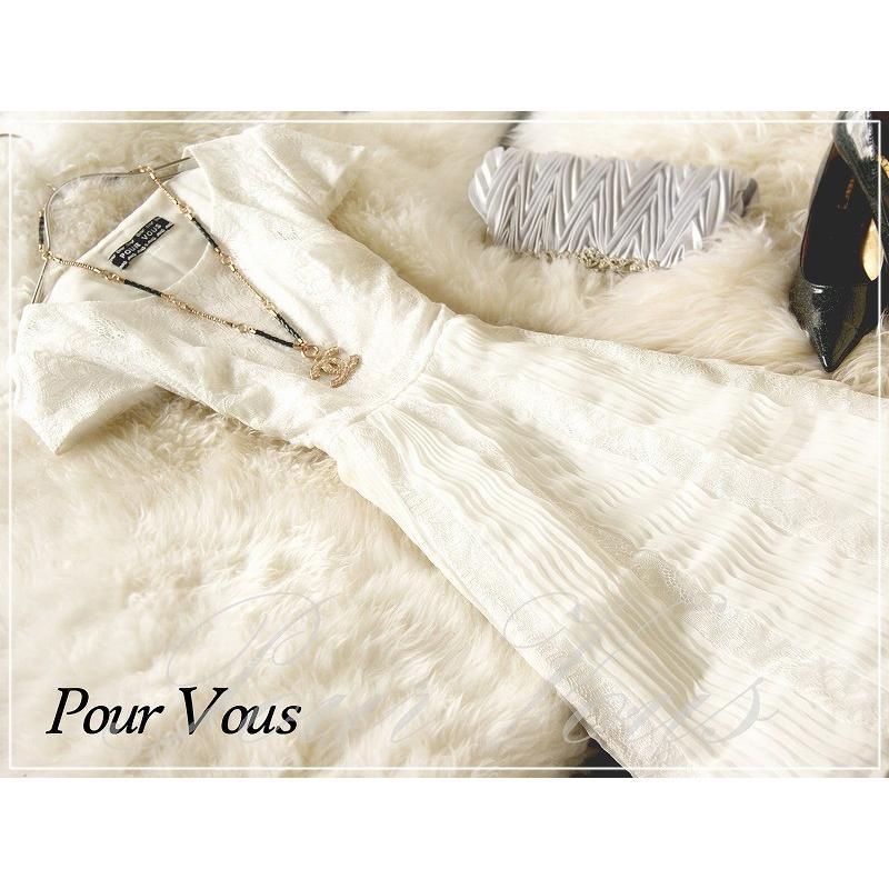 結婚式 ワンピース パーティードレス PourVousオリジナル 大きいサイズ 体型カバー 20代30代40代50代 976_977