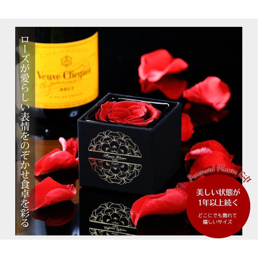 プリザーブドフラワー プレゼント ギフト 「ROSE in CUBE 1 PREMIUM BOX」|pourvousparis|11