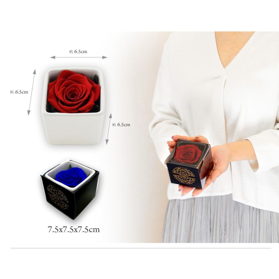 プリザーブドフラワー プレゼント ギフト 「ROSE in CUBE 1 PREMIUM BOX」|pourvousparis|17