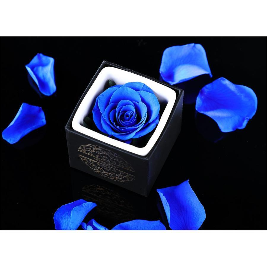 プリザーブドフラワー プレゼント ギフト 「ROSE in CUBE 1 PREMIUM BOX」|pourvousparis|09