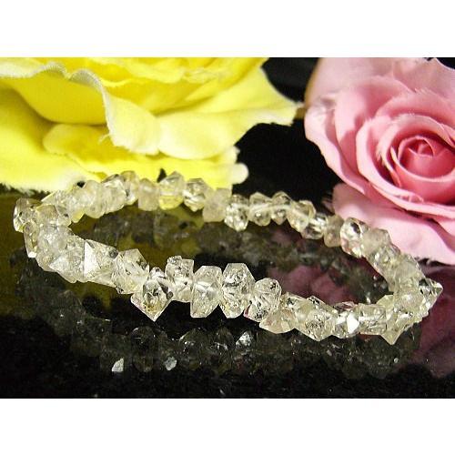 絶妙なデザイン ★完売御礼★ハーキマーダイヤモンド/天然石ブレスレット/1点もの, アポロプラス 61b19463