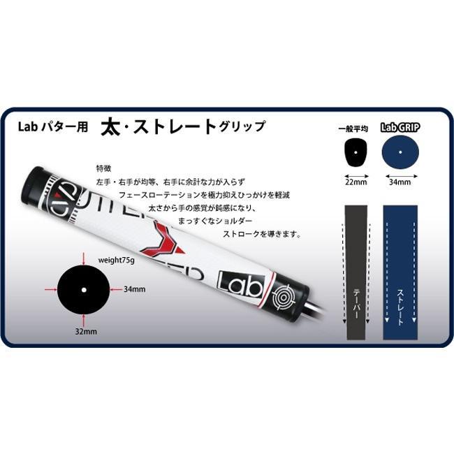 ビッググリップパター パターラボ PUTTER Lab スチールシャフト パター 太ストレートグリップ ラボシリーズ|powerbilt|03