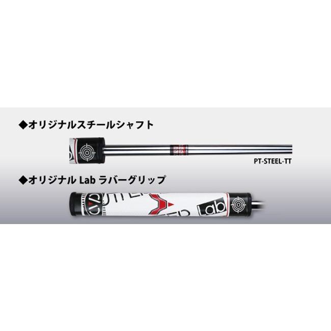 ビッググリップパター パターラボ PUTTER Lab スチールシャフト パター 太ストレートグリップ ラボシリーズ|powerbilt|08
