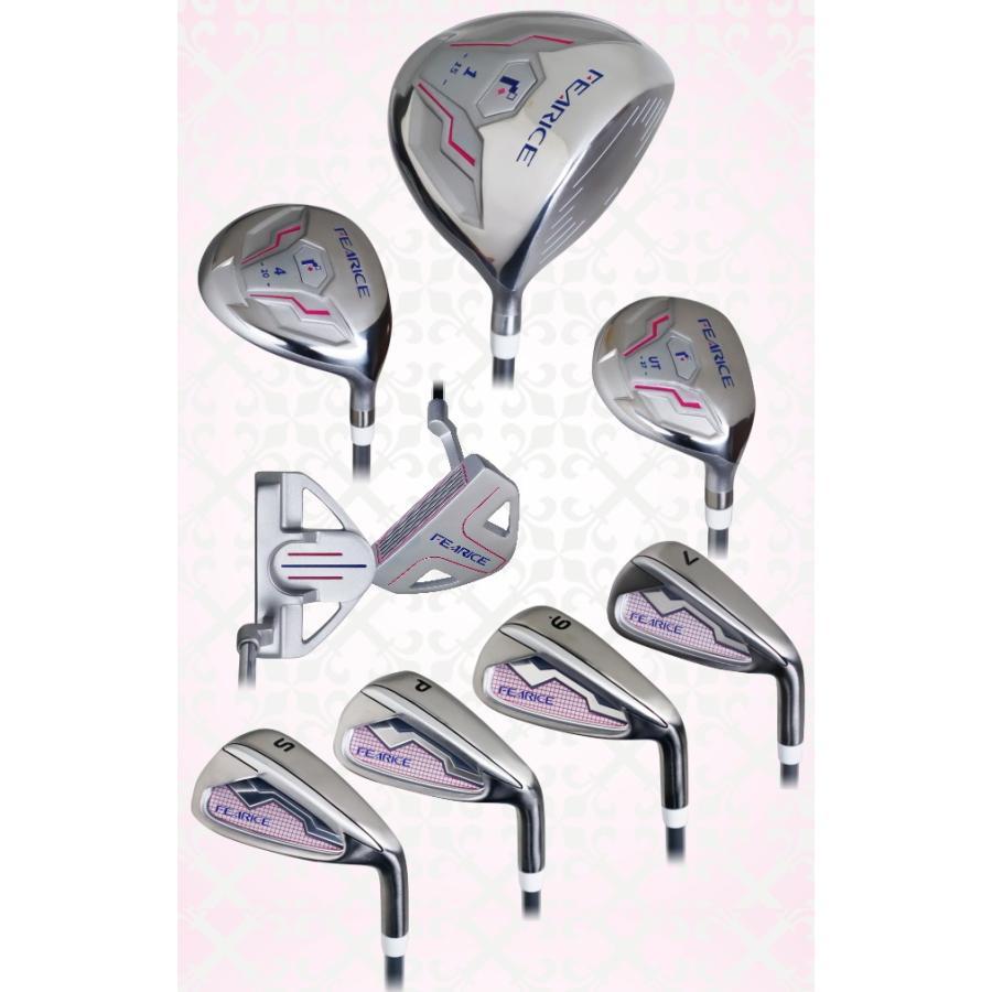 FEARICE フェアリス ゴルフクラブセット 女性用ゴルフセット 初心者 中級者 FR-LSET01 選べる2色 高級バッグ付き|powerbilt|02