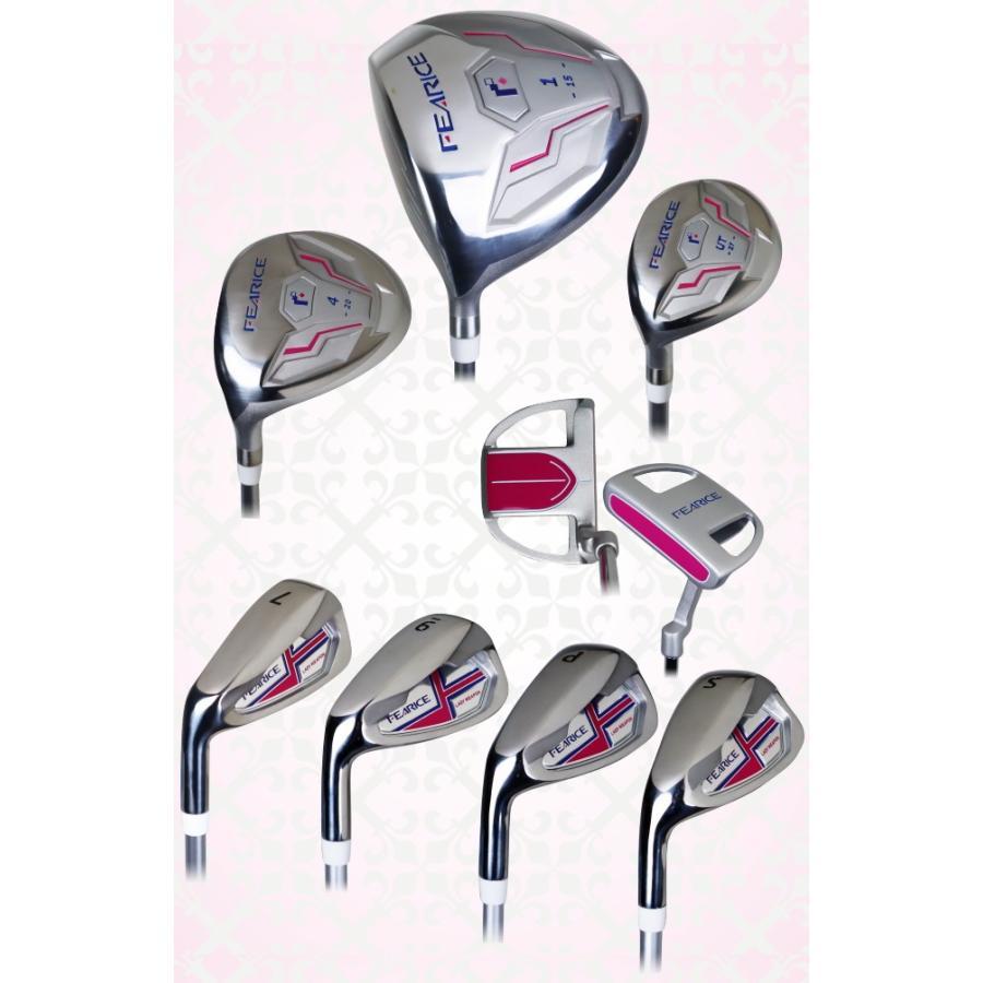 FEARICE フェアリス ゴルフクラブセット レフティー 左利き用 LH 女性用ゴルフセット 初心者 中級者 FR-LSET01LH 選べる2色 高級バッグ付き powerbilt 02