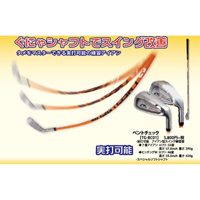 ベントチェック ぐにゃシャフト スイング 練習器具 実打可能 アイアン型 powerbilt 02