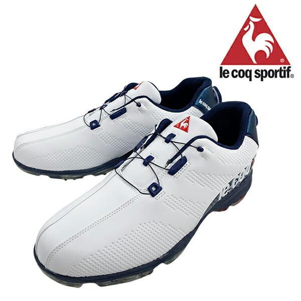 ルコック 2019年春夏モデル メンズ ゴルフシューズ 靴 ヒールダイヤル式 WLS 防水 軽量 ホワイトブルー 3E 24.5cm〜28.0cm le coq【19】ゴルフ qq2nja00