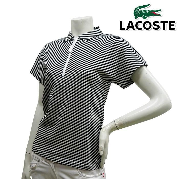 PF2304 NEW春夏モデル LACOSTE-ラコステ- LADYS (レディース) ハーフジップネック ポロシャツ (半袖) 1