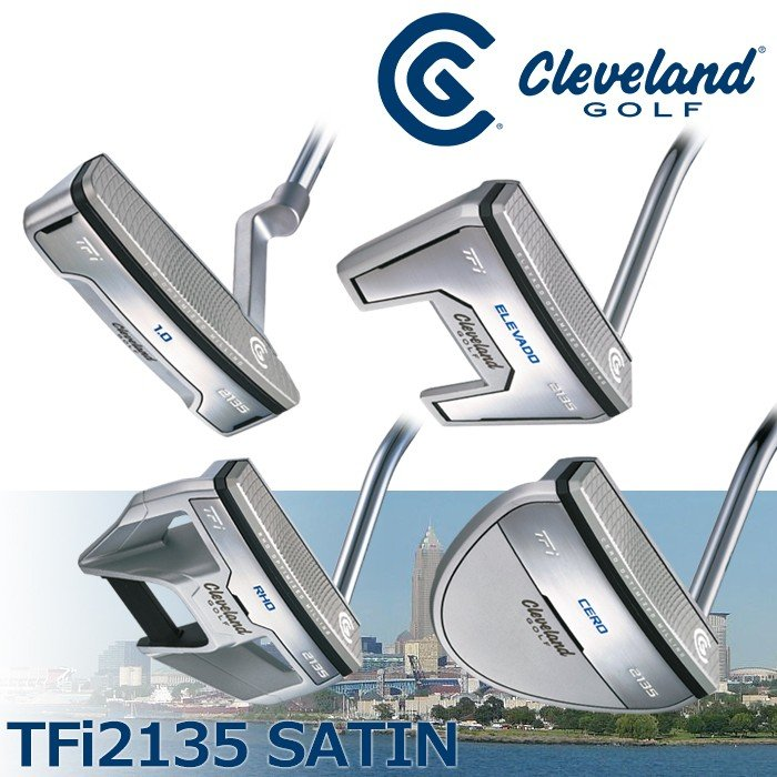 NEWモデル DUNLOP-ダンロップ- Cleveland-クリーブランド- TFi 2135 SATIN パター 17 ゴルフ用品