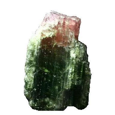 送料無料 ウォーターメロントルマリン バイカラートルマリン 柱状結晶 原石 ナチュラル BTRG-112