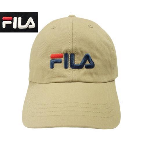 c1898618 フィラ FILA FLS COTTON TWILL 6P CAP BEIGE BLACK ローキャップ ...