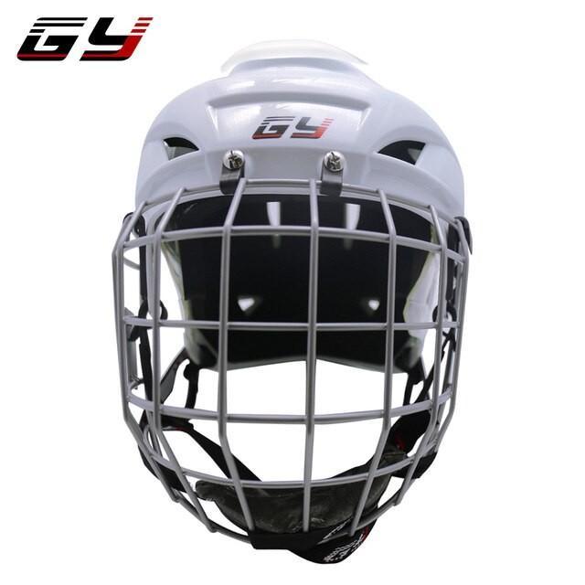 頭部のための鋼鉄マスクのスポーツ用品が付いている2019の最も新しいアイスホッケーのヘル 白い GY-PH9000-C2 S