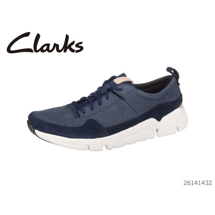 クラークス トライアクティブ ラン 26141432 Clarks メンズ カジュアルシューズ ネイビー ヌバック 靴 正規品