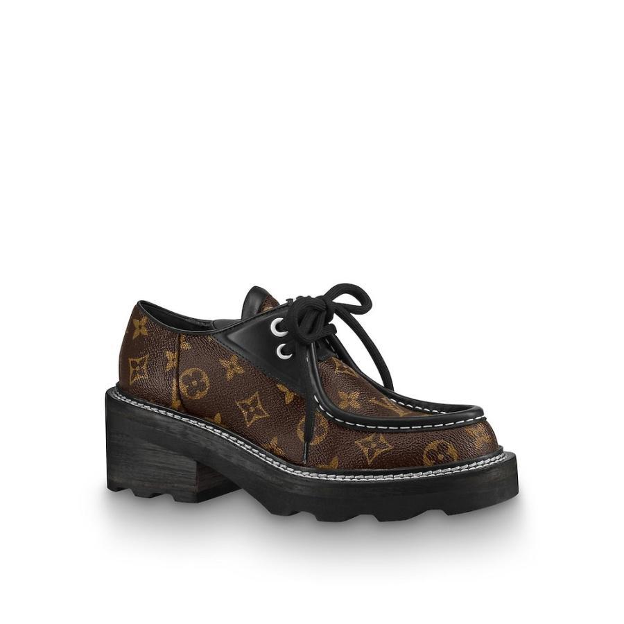 ルイヴィトン LOUIS VUITTON ローファー シューズ 靴 ノワール ブラック モノグラム ブラウン シルバー