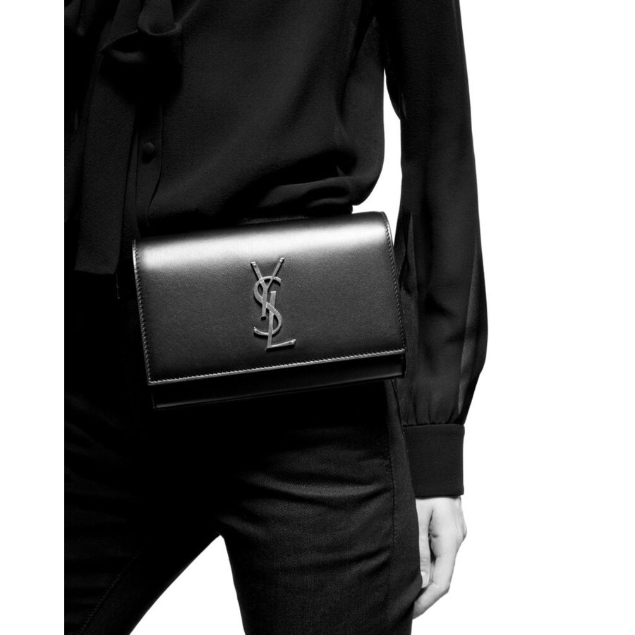 サンローラン SAINT LAURENT バッグ バック ウエストバッグ ウェエストポーチ ベルトバッグ ブラック ゴールド ロゴ カーフスキン レザー サイズ85|precious01|02