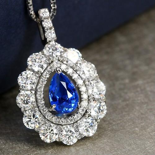 【特価】 アウイナイト0.64ct ダイヤモンド1.78ct プラチナ ネックレス【品質保証書/GRJソーティング付】, Jeweluce 72a947dc