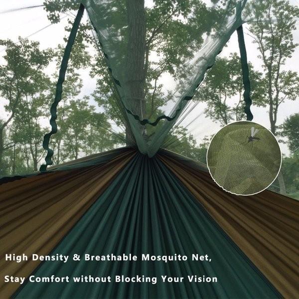 ハンモック 蚊帳 超軽量 パラシュートハンモック 吊るしタイプ 防蚊 屋外 キャンプ テント premiumgarage 03