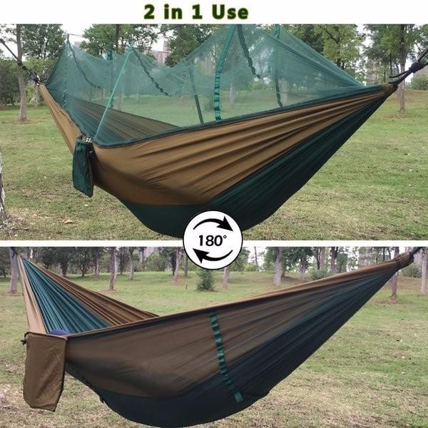ハンモック 蚊帳 超軽量 パラシュートハンモック 吊るしタイプ 防蚊 屋外 キャンプ テント premiumgarage 04