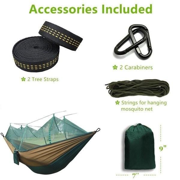 ハンモック 蚊帳 超軽量 パラシュートハンモック 吊るしタイプ 防蚊 屋外 キャンプ テント premiumgarage 05