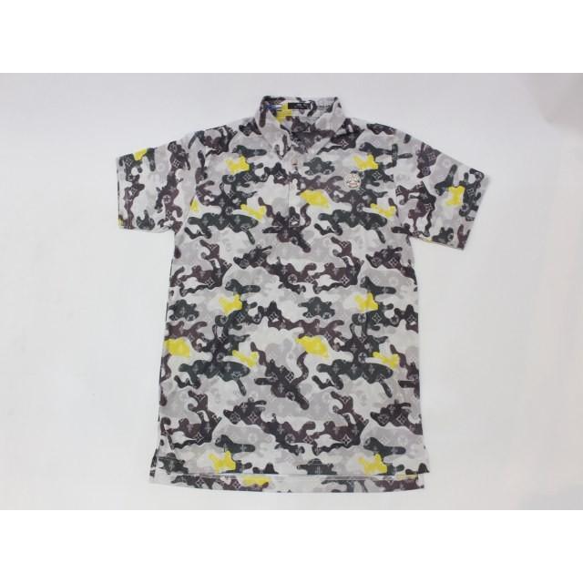 新品 1004(テンオーフォー) Crash MONO Camo Polo 106001 黄 イエロー (XL) ポロシャツ ウェア [8194]