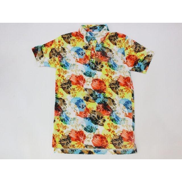 世界的に 新品 1004(テンオーフォー) Daisy Flower ALOHA Polo 106004 Colurful カラフル アロハ (XL) ポロシャツ ウェア [8303], アブタグン a5121225